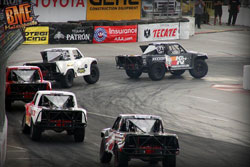 Bradley was battling in the lead for the first few laps at Long Beach before a mishap took him wide in a turn
