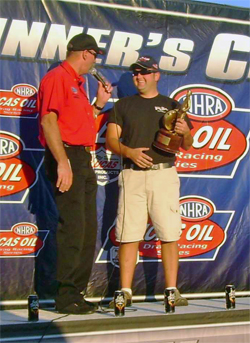 National Event Wally for Brad Zaskowski at Virginia NHRA Nationals