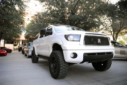 Brandon Wightman displayed this 2008 Tundra with 5.7 liter engine at the 2012 SEMA Show