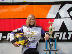 Jessica Brannam is 24 time National Kart Champion