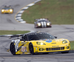 Torrential rain forced officials to red flag the Petit Le Mans after only a few hours of racing, photo by GM Corp.