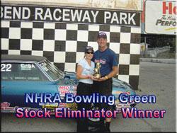 NHRA Bowling Green Stock Eliminator Winner Bill & Brenda Grubs