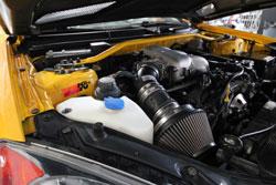 This custom Hyundai Genesis engine bay looks so clean and has K&N air intake 69-5302TTK.