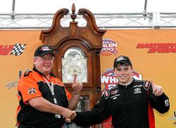 Brett Moffitt wins NASCAR K&N Pro Series East at Martinsville Speedway
