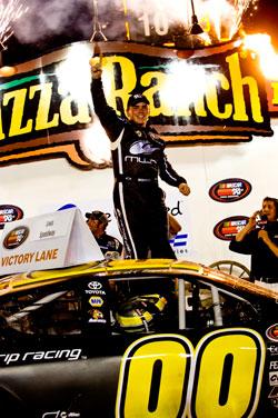 Brett Moffitt won the NASCAR K&N Pro Series Race at Iowa Speedway