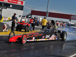 Indiana drag racer Brian Browell at NHRA North Central Division Summit Racing Series Finals.