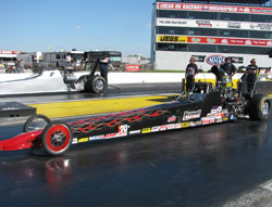 Brian Browell's Competition Eliminator D/D V6-powered McKinney dragster