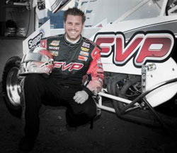 With his win at Knoxville Raceway Brian now has seven victories for the year.