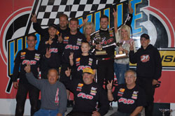 This was Brian Brown's second 410 Knoxville Championship Cup, but the first with his new team.