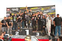 Deegan and his crew celebrate 2011 Metal Mulisha domination.