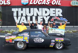 Luke Bogacki Claimed a $10,000 Victory at World Footbrake Challenge III at Bristol Dragway, photo courtesy of Angela Macy