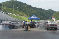 1980 Volare vies for big money in Bristol, Tennessee for the World Footbrake Challenge, photos courtesy of Angela Macy and Lisa King