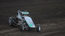 The young Sprint Car racer came from a fourteenth starting position to earn his first ever VRA feature victory. Photo by: Mallory Roa.