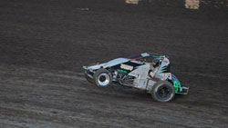 If there was a Sprint Car wheelie contest Roa would excel at that as well. Photo by: Mallory Roa.