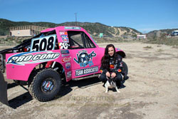 Brooke Kawell's dog Idey likes racing nearly as much as her walks.