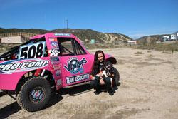 At age fourteen, Brooke Kawaell has already een racing for nine years.