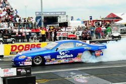 Bruno Jr. qualified 1st at the NHRA Lucas Oil Series race in Stanton, Michigan