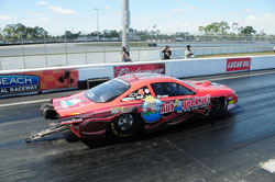 Massel set the low ET and top-speed as he qualified number one on the newly renovated Palm Beach International Raceway.