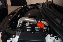 The SEMA featured EGR Ford Explorer and the Chevy Silverado both used K&N's Performance Air Intake Kits