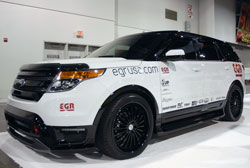 Custom Ford Explorer Sport on display in the EGR Incorporated SEMA booth