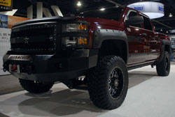 EGR displayed a 2014 Chevy Silverado 1500 in their SEMA booth