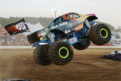 Black Stallion Monster Truck driven by Michael Vaters was ready for an evening of truck action and destruction