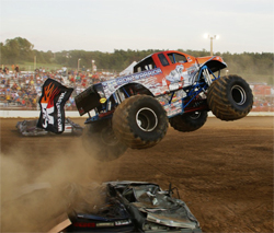 K&N Iron Warrior puts on a fast paced exhibition in Monster Truck action at the Reading Fair in Pennsylvania