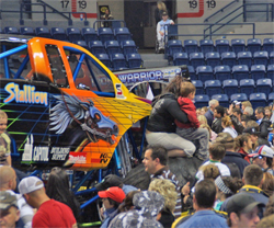 Pit party for Monster Truck Spectacular Tour drew a packed house at the Pepsi Coliseum in Quebec City