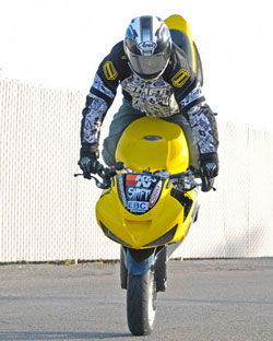 Brian Bubash said Stoppies are my favorite stunt because they're the most exhilarating.