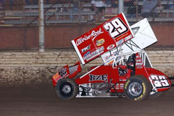 One week after his exciting feature event win in Vegas, Kaeding made his 2012 winged debut with the World of Outlaws.