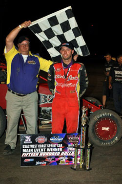 Bud Kaeding wins main event during USAC West Coast Sprint Car Race