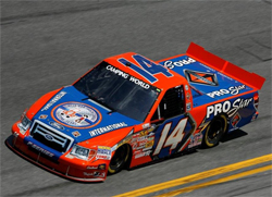 No. 14 International Truck and Engine Ford F-150 will be driven by Rick Crawford at Daytona International Speedway, courtesy of Ronda Greer