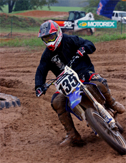 Three time Arenacross Champion Josh Demuth was one of the front runners at the Second Annual Buffalo Creek Shock Sox