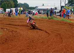 Rider Michael Lieb on the course at he Buffalo Creek MX Park in Canton, Texas