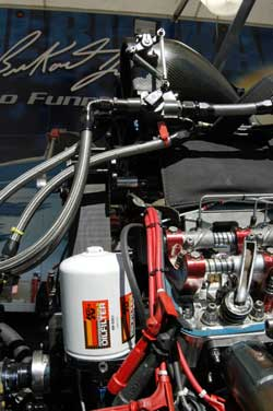 Funny Car Racer Phil Burkart uses K&N Performance Gold Oil Filters