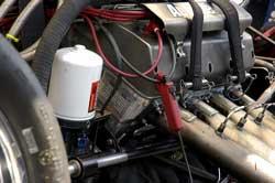 K&N Filter on Team Worsham Car
