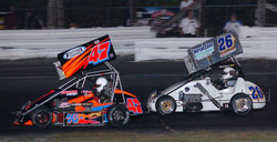"""Waterford's winningest driver, Bertrand Motorsports' Randy Cabral stole second place with a stunning """"hail Mary"""" move with only five laps to go."""