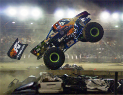Ford Powered K&N Black Stallion joined seven other Monster Trucks for an event at the Geauga Fair in Burton, Ohio