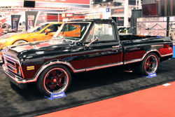 This 1968 C10 Chevy looked great at SEMA 2012 with a black and chrome finish