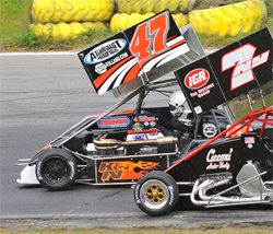 Northeastern Midget Association race win for Randy Cabral in his K&N Filters, Bertrand Motorsports No.47 machine
