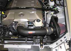 57-3054 K&N air intake system installed in 2005 Cadillac CTS-V