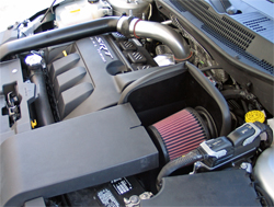 K&N air intake installed in 2008 Dodge Caliber SRT4