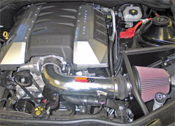 K&N air intake system installed in 2010 Chevrolet Camaro