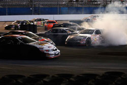 NASCAR K&N Pro Series inaugural race action at Daytona International Speedway