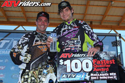 Natalie and Wienen currently hold first and second in the AMA ATV Motocross Championship Series.