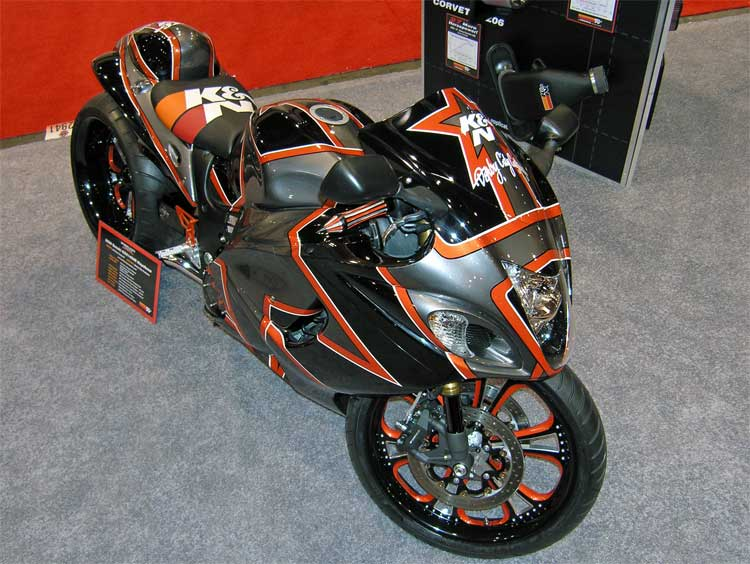 Custom 2008 Suzuki GSX1300R Hayabusa Debuts at SEMA in K&N ...