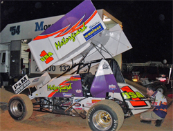 MAXIM Chassis Sprintcar with a 410ci motor and K&N products driven by American Michael Carber for Australian John Weatherall and Motorguard Motorsports