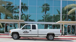 Carl Judice's famous Million Mile Truck still lives on at K&N's Corporate Headquarters in Riverside, California