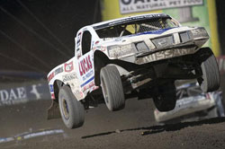 Renezeder said his Pro-4 truck ran flawless during the opening laps of the race