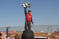 Carl Renezeder started the 2013 LOORS season off with a bang at the Firebird International Raceway at Chandler, Arizona.
